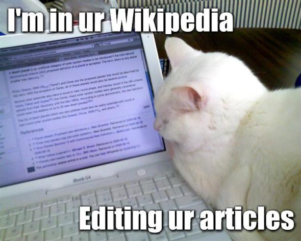 LOLcat: Editing Wikipedia